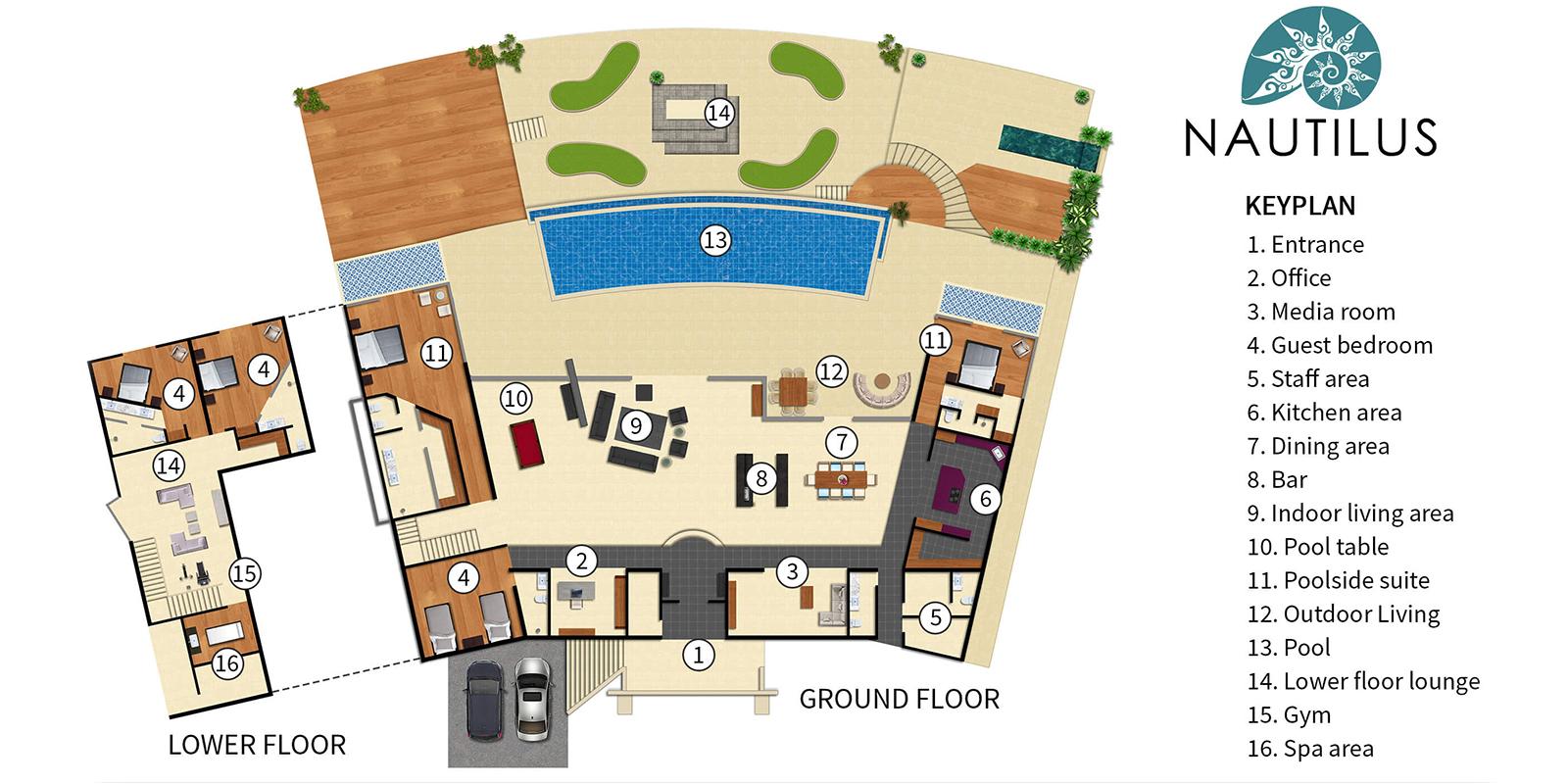 Villa Nautilus Floor Plan | Ao Po, Phuket