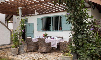 Sisindu Tea Estate Outdoor Dining Table | Galle, Sri Lanka