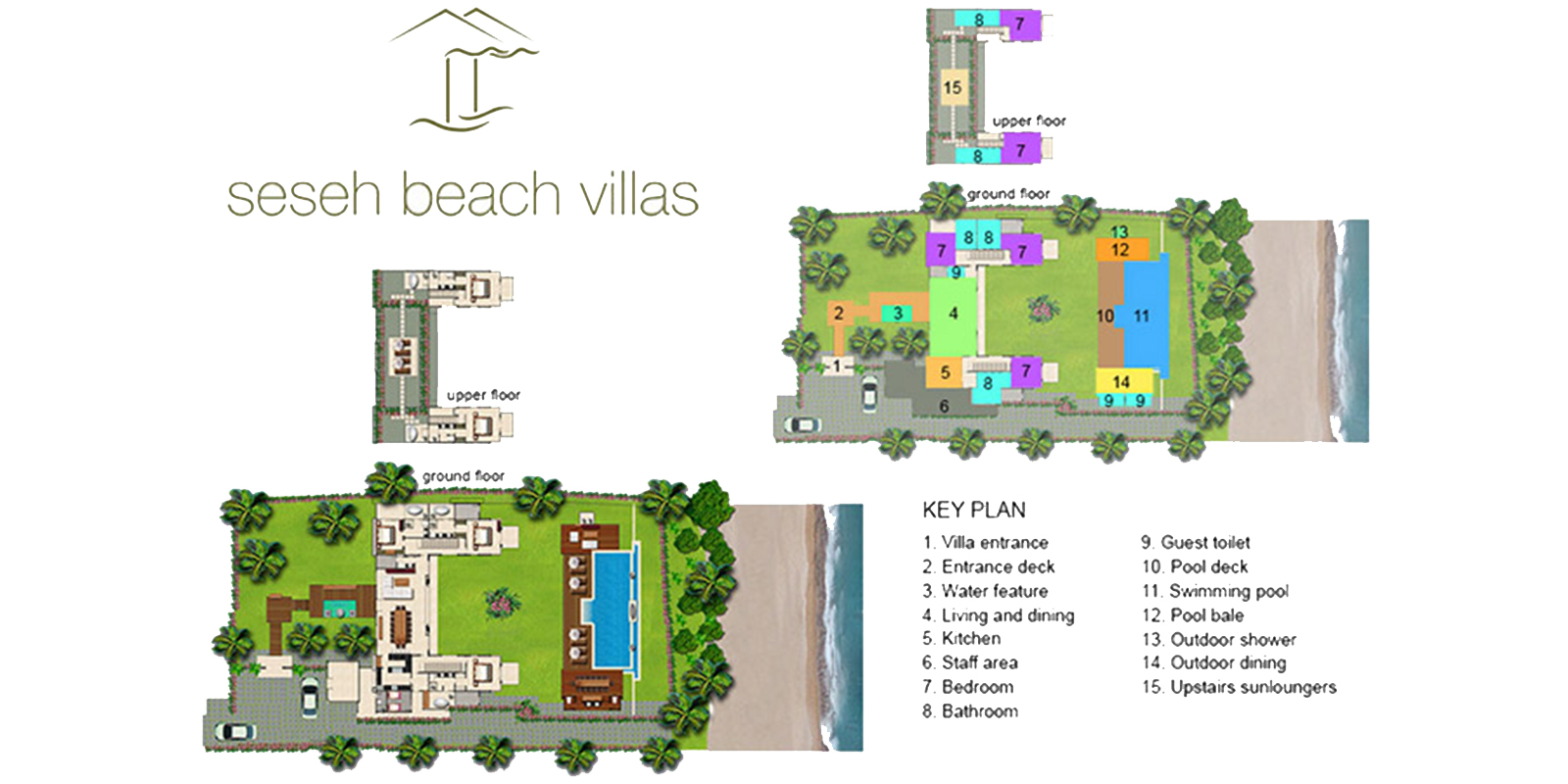 Seseh Beach Villa 1 Floor Plan | Seseh, Bali