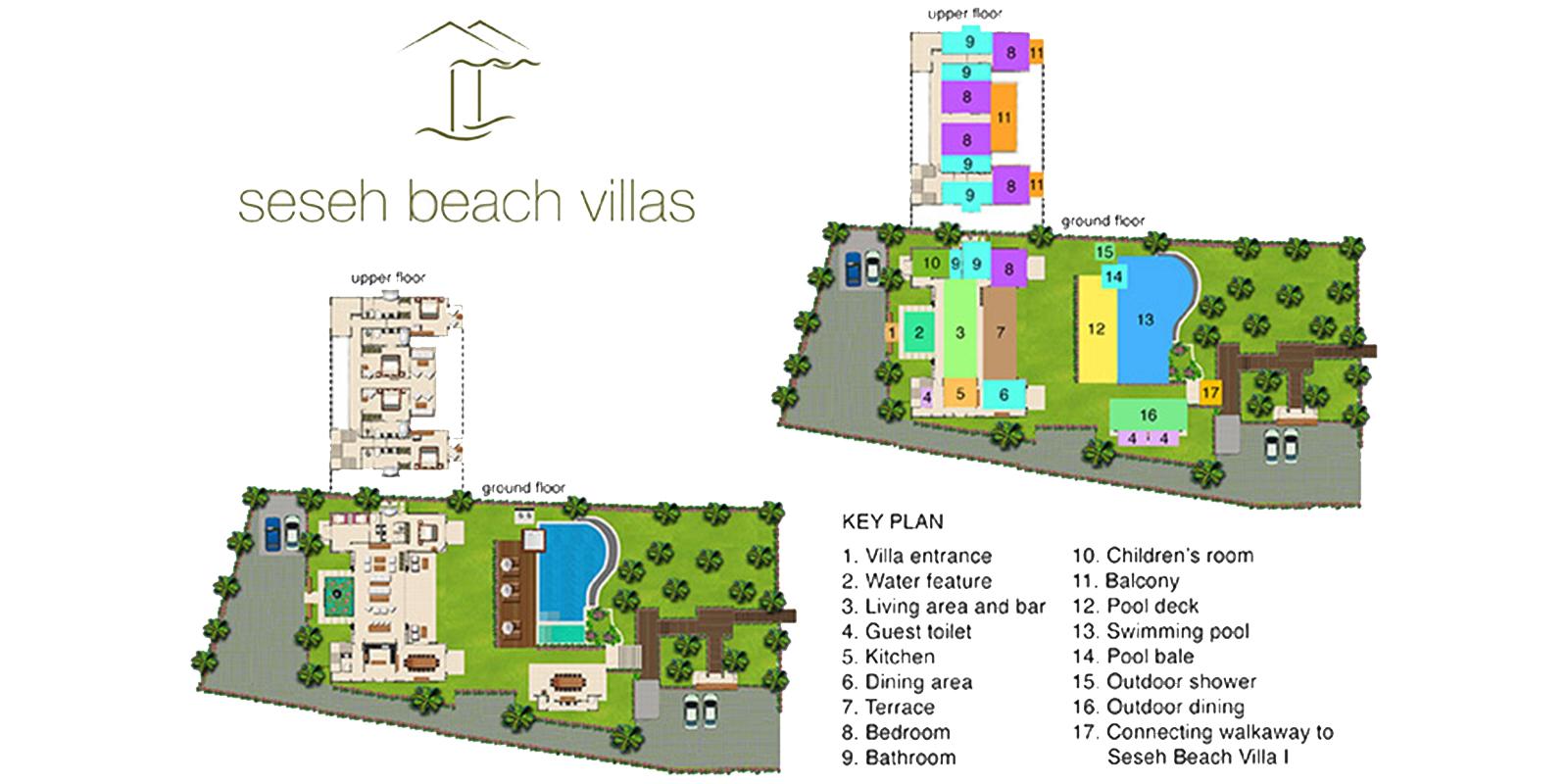 Seseh Beach Villa 2 Floor Plan | Seseh, Bali
