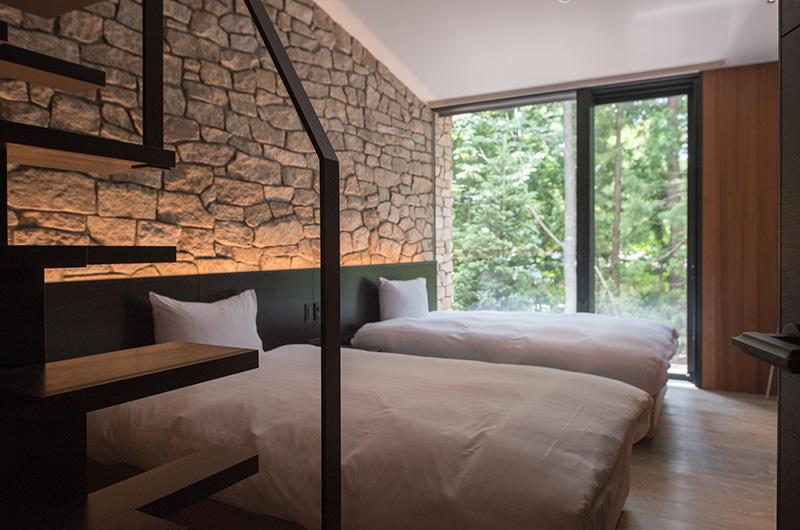 Villa El Cielo Twin Bedroom Side | Hakuba, Nagano
