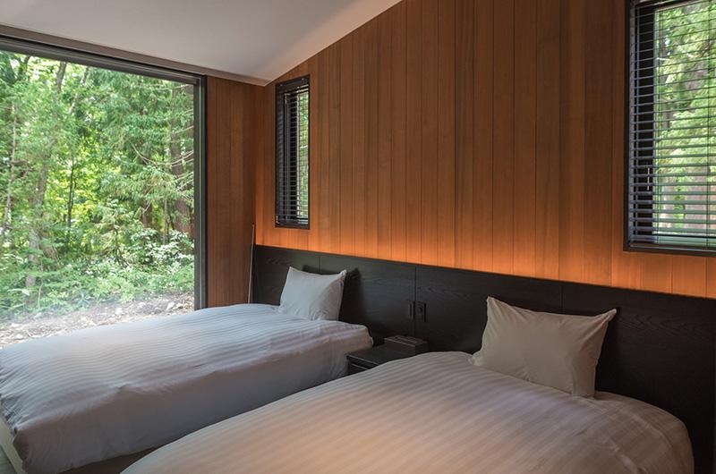 Villa El Cielo Twin Bedroom Area | Hakuba, Nagano