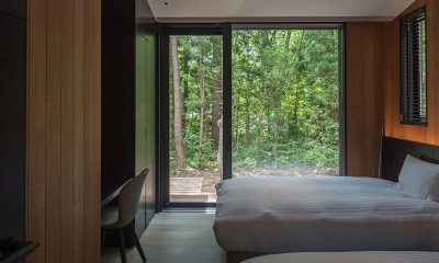 Villa El Cielo Twin Bedroom with Seating | Hakuba, Nagano