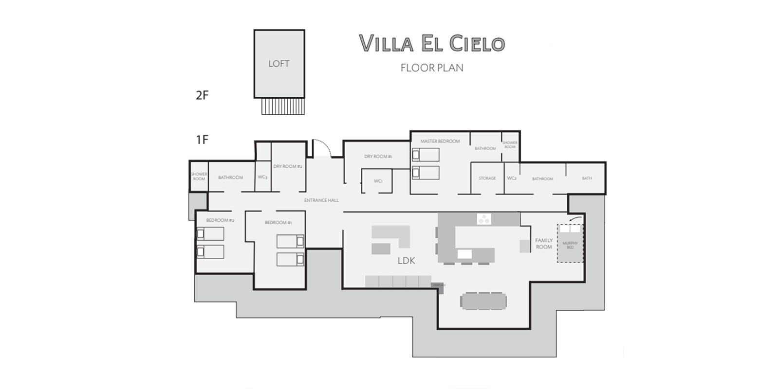 Villa El Cielo Floor Plan | Hakuba, Nagano