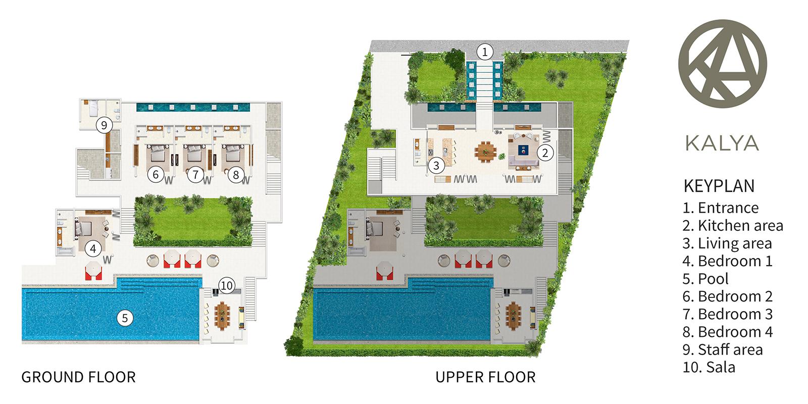 Kalya Residence Floor Plan | Bophut, Koh Samui
