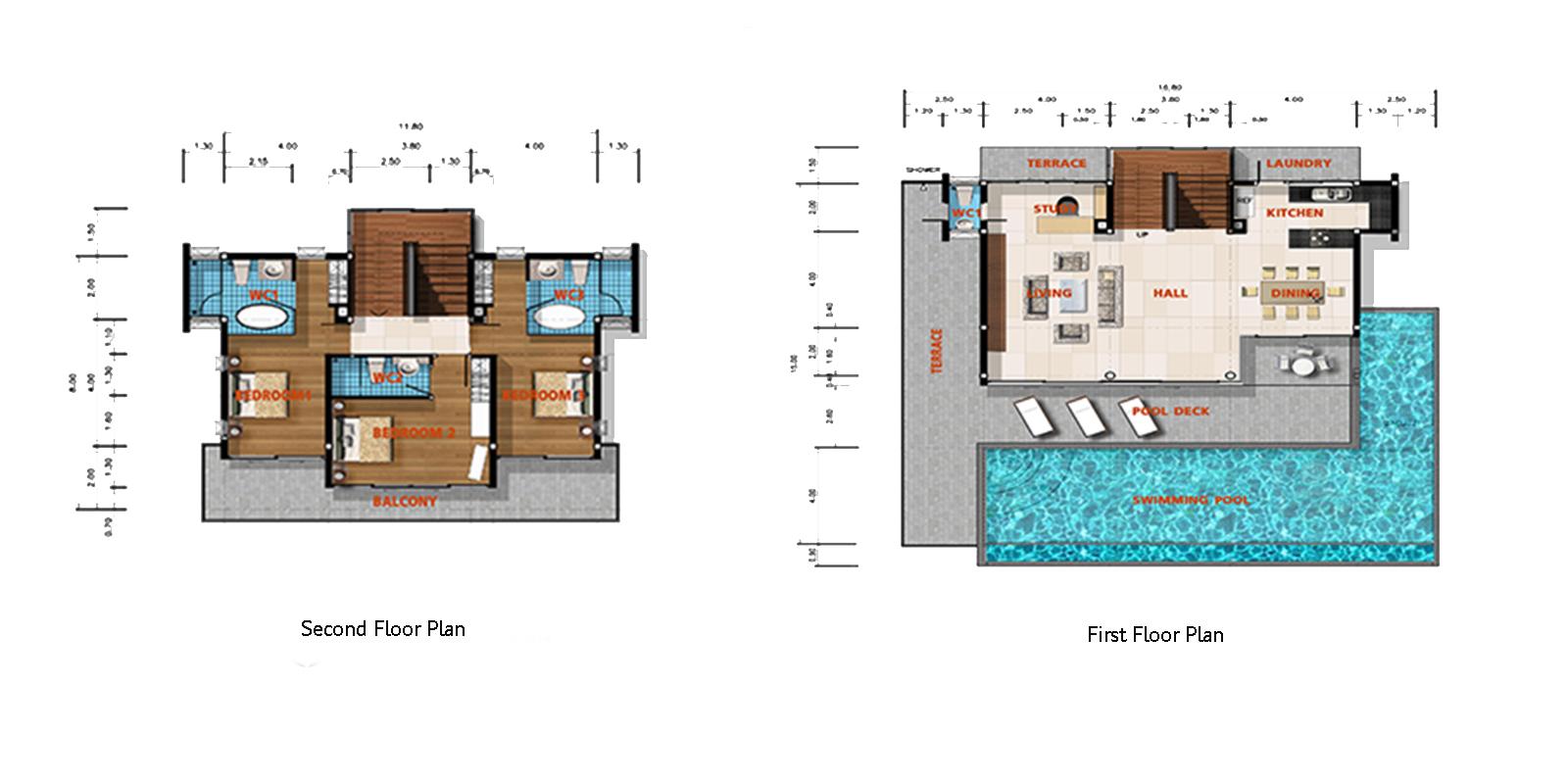 Villa Asia Floor Plan   Bang Por, Koh Samui