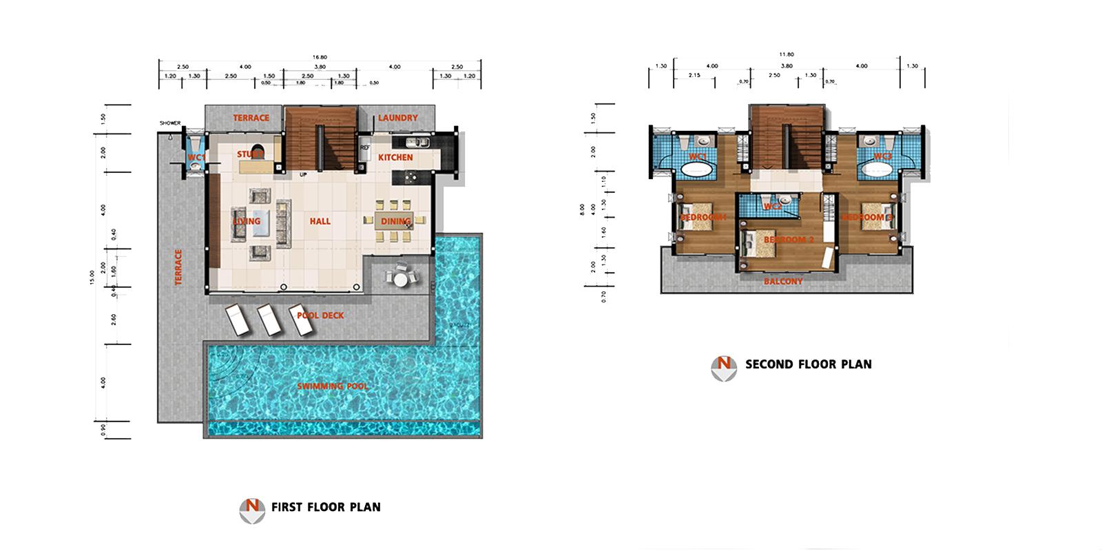 Villa Daisy Floor Plan | Bang Por, Koh Samui