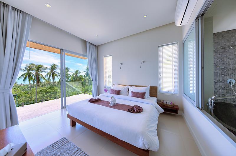 Villa Zoe Bedroom with Enclosed Bathroom   Bang Por, Koh Samui