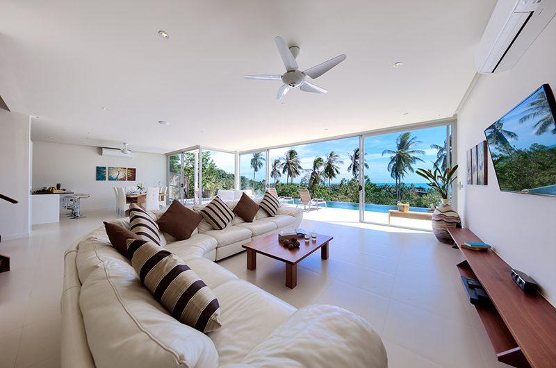 Villa Zoe Living Area | Bang Por, Koh Samui
