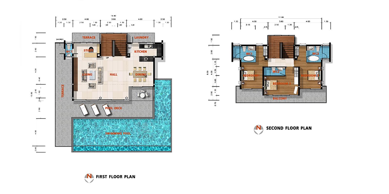 Villa Zoe Floor Plan   Bang Por, Koh Samui