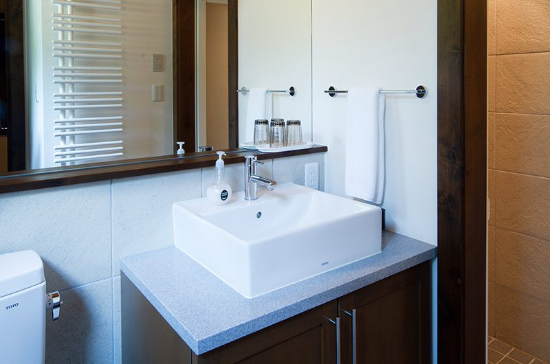 Ezorisu Bathroom with Mirror   Hirafu, Niseko