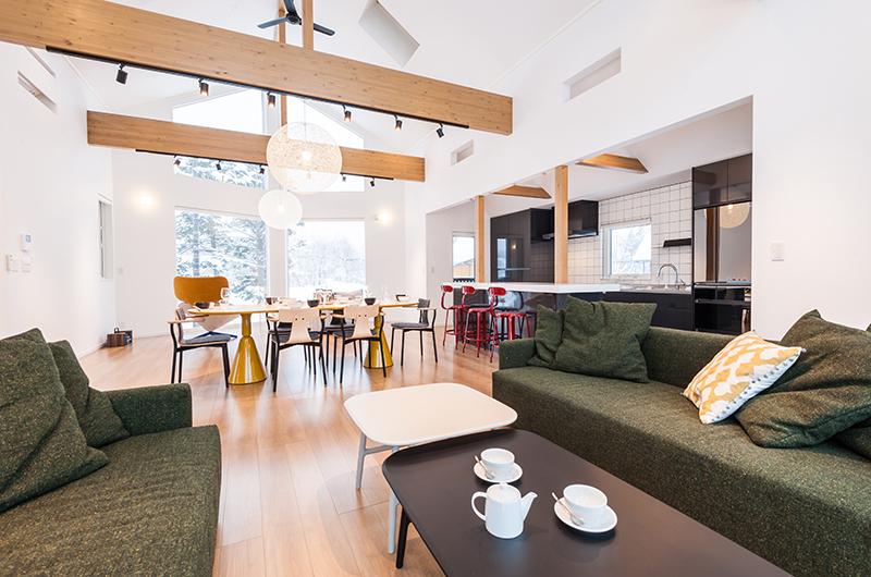 Icho Living and Dining Room | Hirafu, Niseko