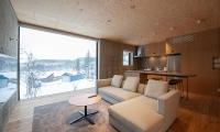 Puffin Kitchen and Living Area | Hirafu, Niseko