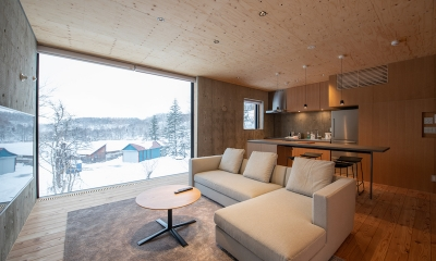 Puffin Kitchen and Living Area | Hirafu, Niseko