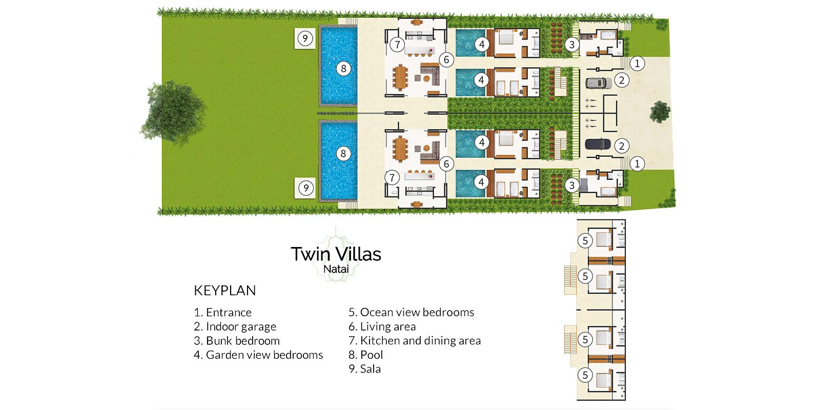 Twin Villas Natai Floor Plan | Natai, Phang Nga