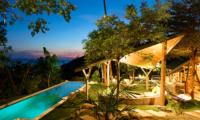 Quartz House Pool Area Night View | Taling Ngam, Koh Samui