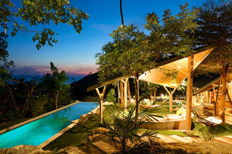 Quartz House Pool Area Night View   Taling Ngam, Koh Samui