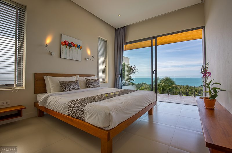 Villa Lily Bedroom with Views | Bang Por, Koh Samui