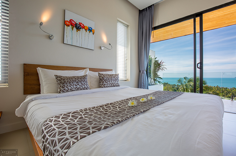 Villa Lily Bedroom One with Views | Bang Por, Koh Samui
