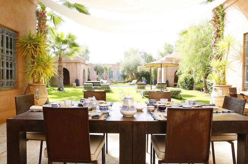 Villa Akhdar 5 Dining Area | Marrakech, Morocco