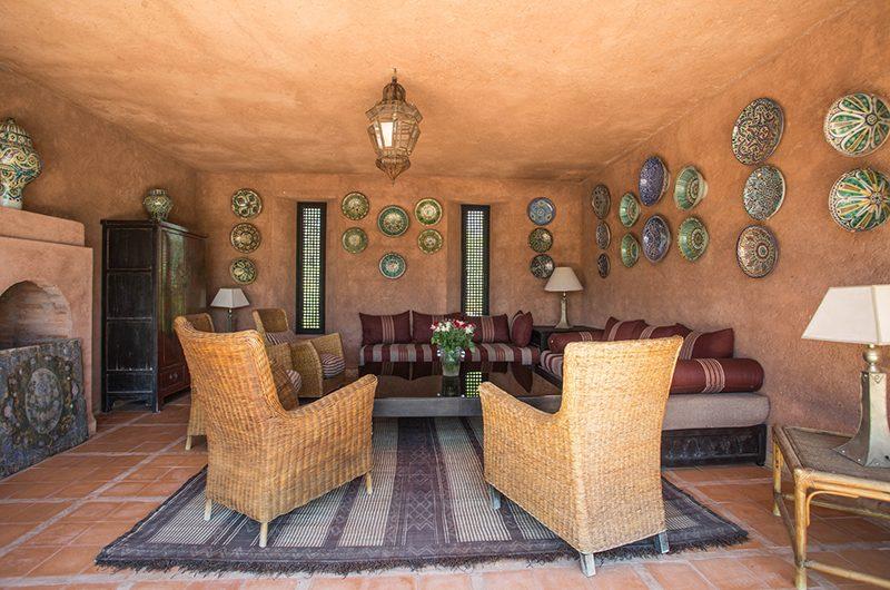 Villa Alouna Seating   Marrakech, Morocco