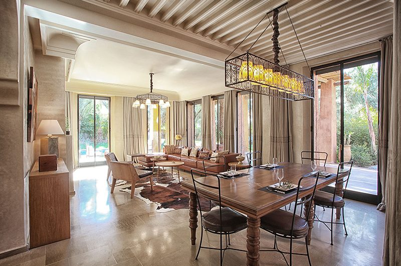 Villa Lankah Living and Dining Area | Marrakech, Morocco