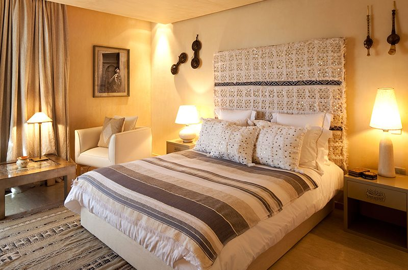 Villa Olirange Bedroom with Lamps | Marrakech, Morocco