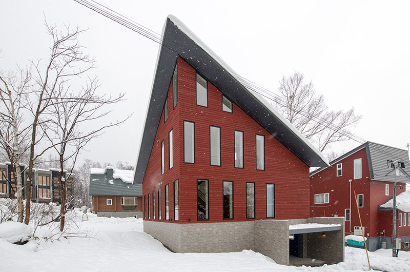 Kitsune House Building with Snow | Hirafu, Niseko