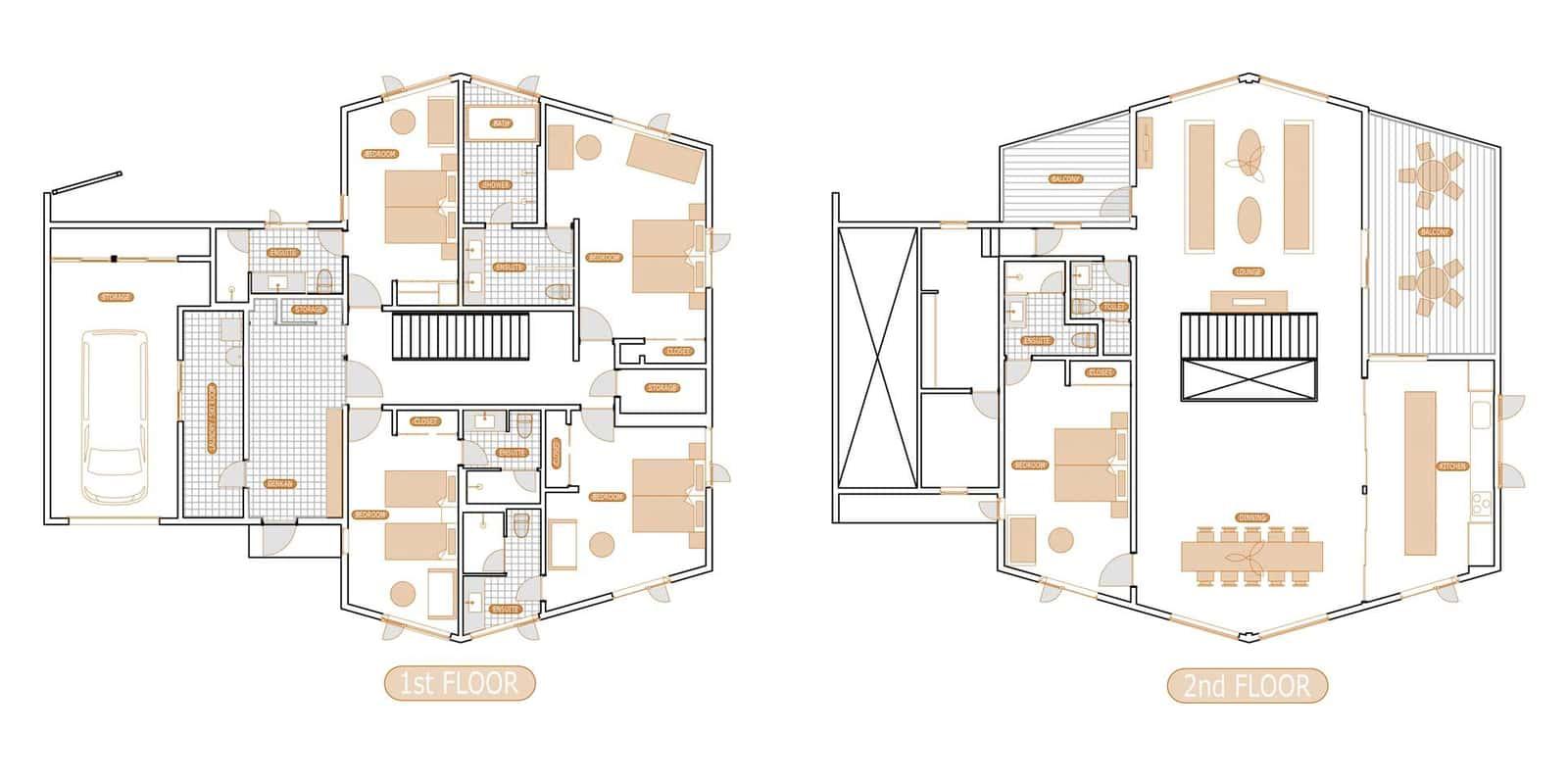 Sankei Floor Plan | Hirafu, Niseko