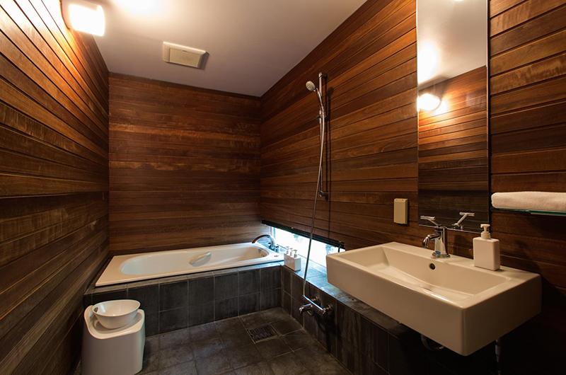Sekka Ni 1 Bathroom Area | Hirafu, Niseko