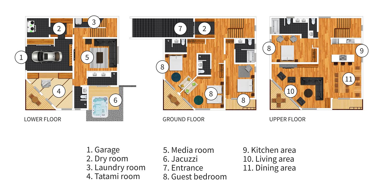 Seshu Floor Plan   Hirafu, Niseko