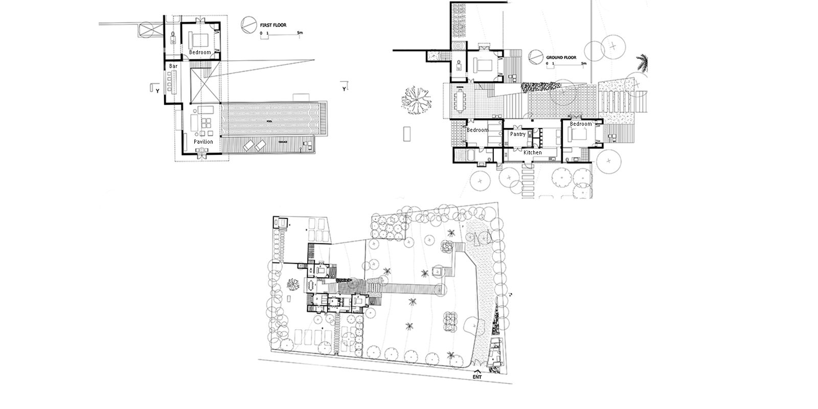 Kadju House Floor Plan | Tangalle, Sri Lanka