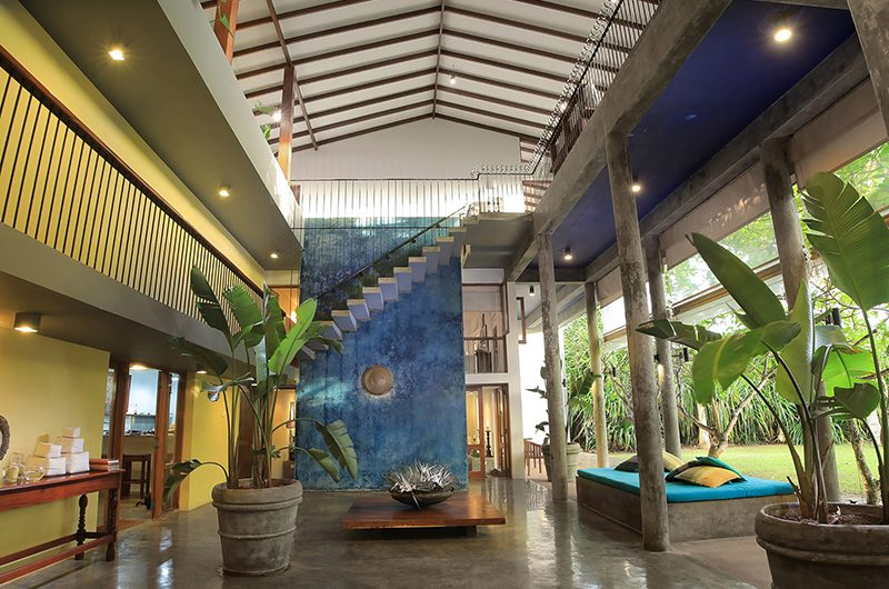 Saffron & Blue Open Plan Living Room | Kosgoda, Sri Lanka