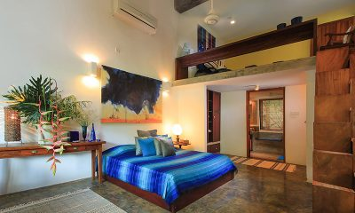 Saffron & Blue Bedroom with Enclosed Bathroom | Kosgoda, Sri Lanka