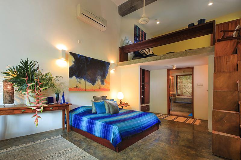 Saffron & Blue Bedroom with Enclosed Bathroom | Kosgoda, Sri Lanka
