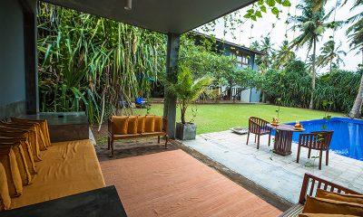 Saffron & Blue Seating | Kosgoda, Sri Lanka