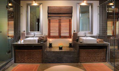 Saffron & Blue Bathroom Area | Kosgoda, Sri Lanka