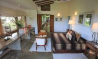Saffron & Blue Bedroom with Seating | Kosgoda, Sri Lanka