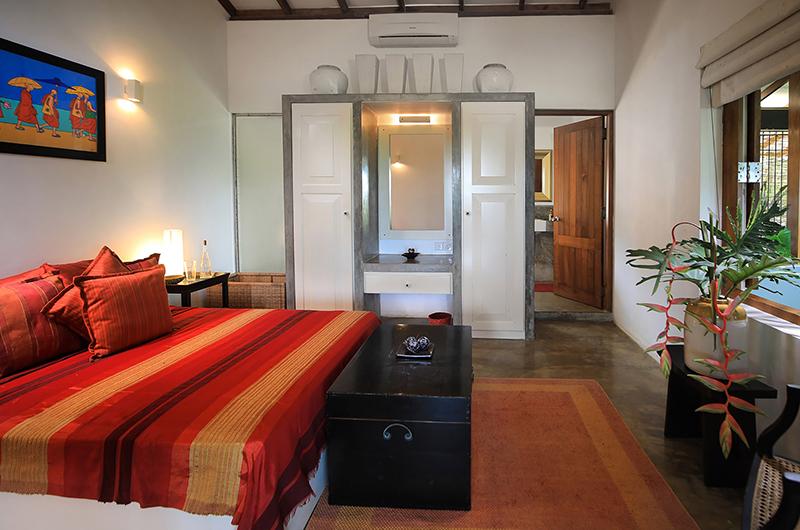 Saffron & Blue Bedroom Area | Kosgoda, Sri Lanka