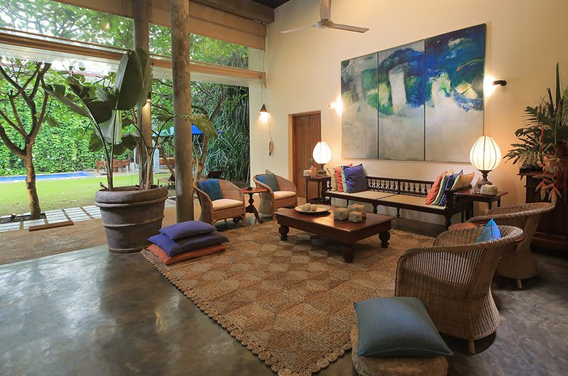 Saffron & Blue Open Plan Living Area | Kosgoda, Sri Lanka