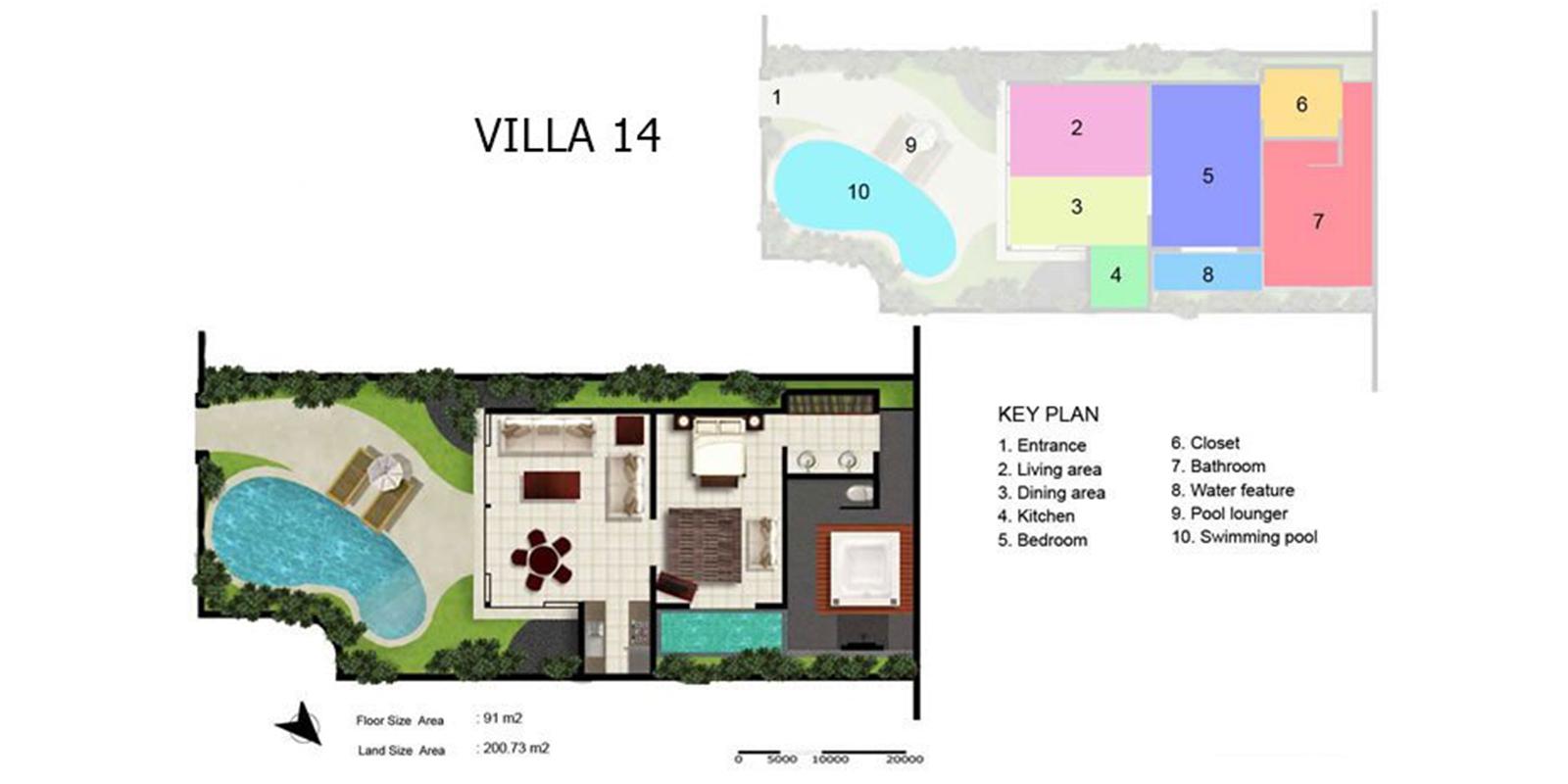 Villa Kubu 14 Floor Plan | Seminyak, Bali