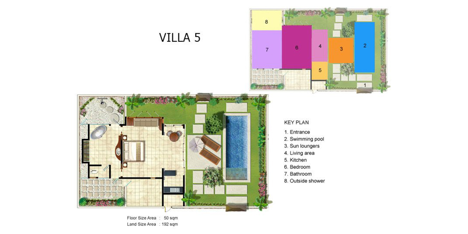 Villa Kubu 5 Floor Plan | Seminyak, Bali