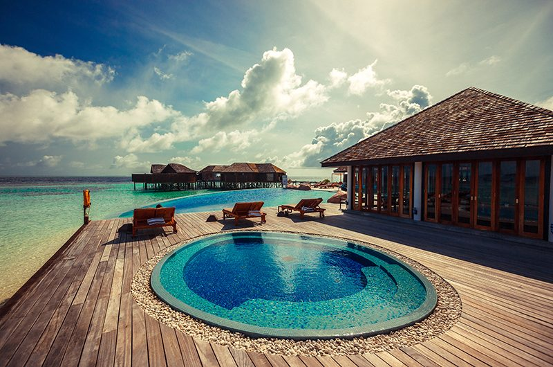 Lily Beach Resort Swimming Pool Area | South Ari Atoll, Maldives