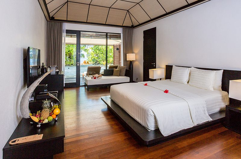 Lily Beach Resort Bedroom with TV | South Ari Atoll, Maldives