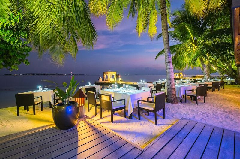 Lily Beach Resort Outdoor Dining Area | South Ari Atoll, Maldives