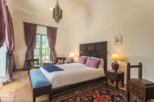 Villa Dar Tana Bedroom with Lamps | Marrakesh, Morocco