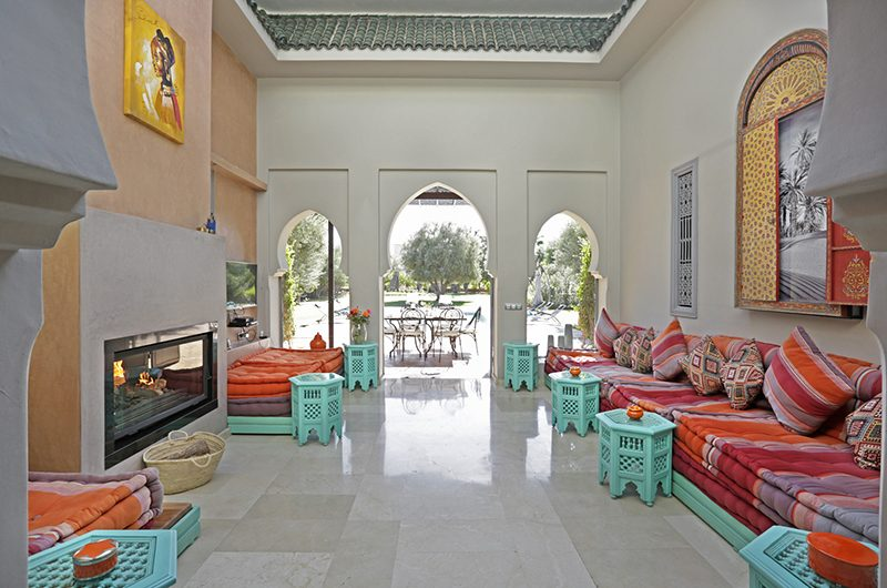 Villa Domoliv Living Room | Marrakesh, Morocco