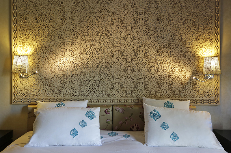 Villa Domoliv Bedroom with Lamps | Marrakesh, Morocco