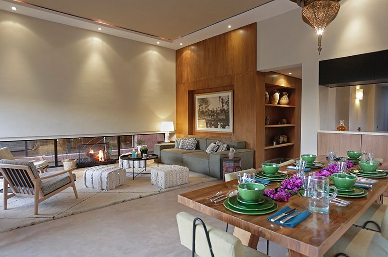 Villa Jardin Bleu Dining and Living Area | Marrakesh, Morocco