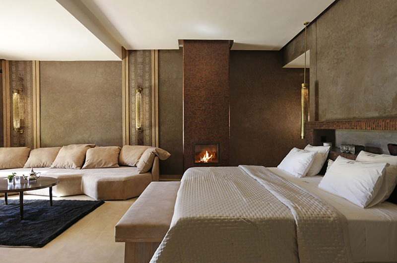 Villa Pars Bedroom with Fire Place | Marrakesh, Morocco